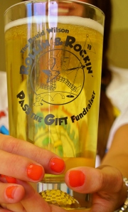 2013 Pass The Gift Fundraiser Beer Glasses 1/$6 4/$20