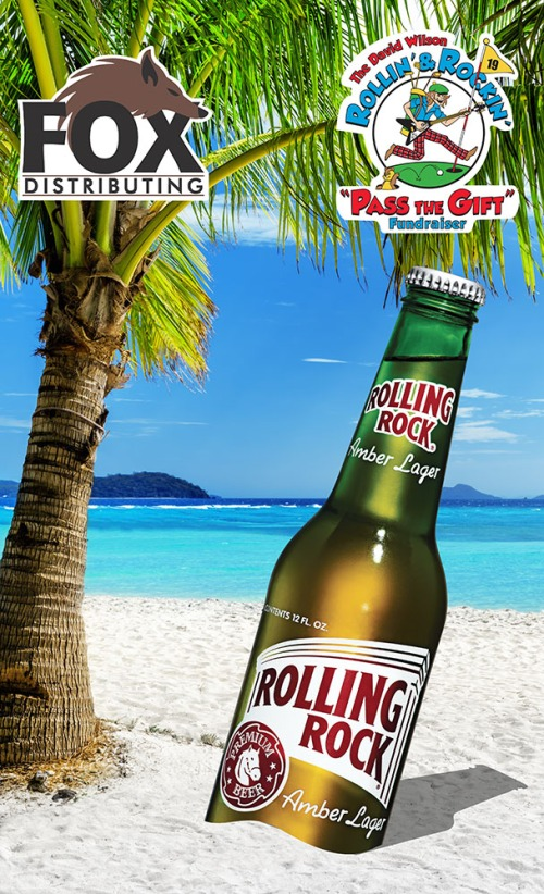 Rolling Rock Backdrop mockup